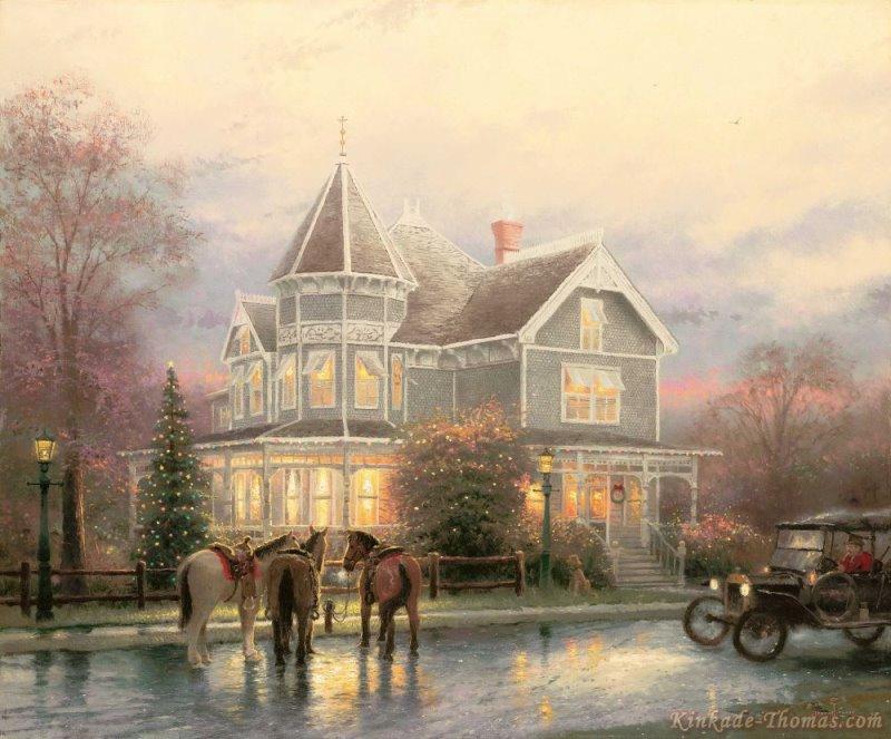 Thomas Kinkade Christmas Memories Painting   Thomas Kinkade ...